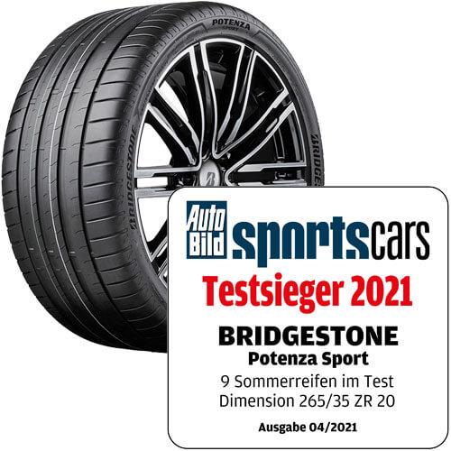 Reifentest Bridgestone Potenza Sport