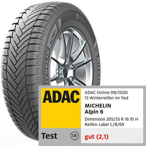 Michelin Alpin 6 Reifentest